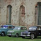 Car show @ Borgholm castle ruins by Paola Svensson