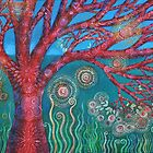 Red Spiral Tree by Alice Mason