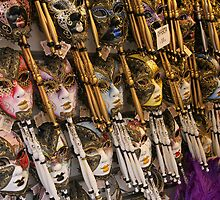 Masks of Venice, Italy by Janika