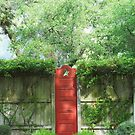 Red Garden Door by Patricia Miller
