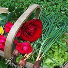 Basket of Roses and Veggies by sandycarol
