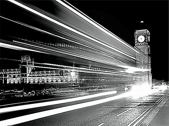 BIG BEN IN BLACK AND WHITE  by Scott  d'Almeida