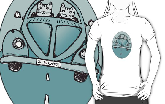 Teal VW Cats by Ryan Conners