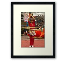 Swaying with Hoops Framed Print