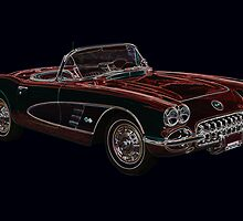 1950's Chevrolet Corvette Convertible  by John Gaffen