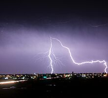 City Lightning Intersection by Bo Insogna