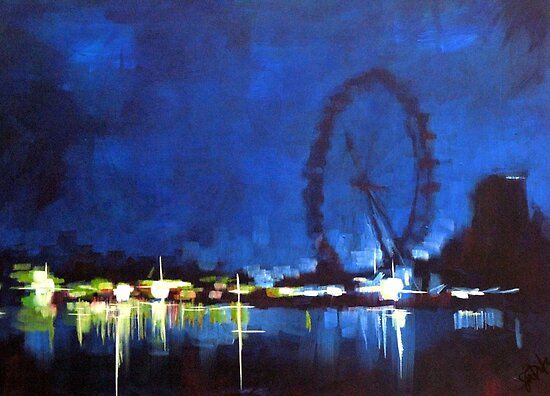 Painting: london Eye  by Samuel Durkin