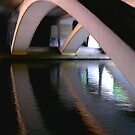 Dusk under the Motorway. by Allan McKean