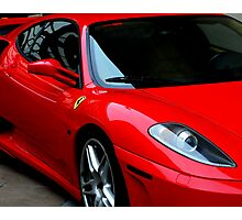 Little Red Sports Car Photographic Print