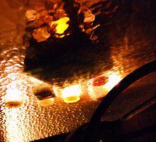 Underworld night reflections in glass  by Helen Carmichael