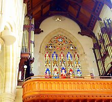Inside the Sacred Heart Cathedral#4, the pipe organ by Julie Sleeman