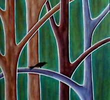 Two Birds And Four Trees by karlagerard