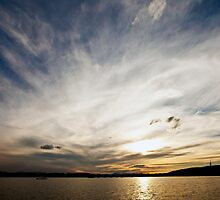 Sunset over Canberra by Peter Doré