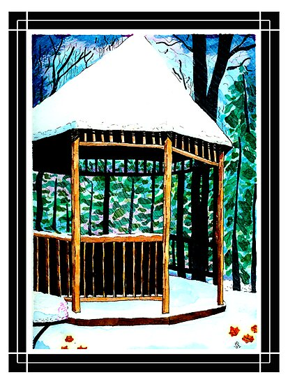 Winter Gazebo by therevdr23