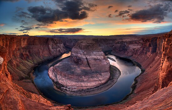 Sunset at Horseshoe Bend, Arizona (USA) by Andrey Popov