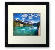 Emerald Lake panorama. Yoho national park, Canada Framed Print