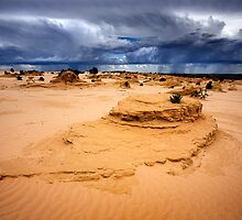 Distant Storm - Lake Mungo by Hans Kawitzki