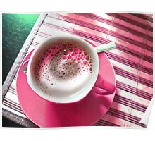 Coffee in Pink. Poster