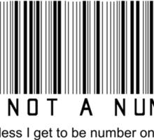 not a number, unless.. (dark) Sticker
