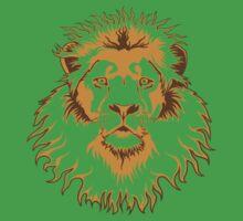 Lion Head (Transparent) Kids Clothes