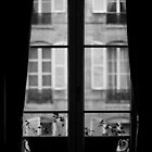 Parisian Window, Black and White by Ben Walker