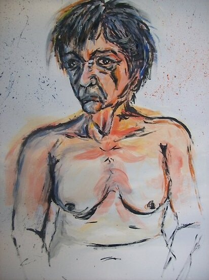 Life drawing - miserable Mary by Gema Sharpe