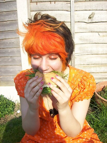 Self Portrait - vegan burger by Gema Sharpe