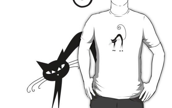 Black cat silhouette by Kudryashka