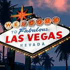 Fabulous Las Vegas Sign Night Version Retro Neon  by Anthony Ross