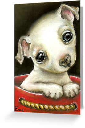 Little chihuahua in a gift bag by tanyabond