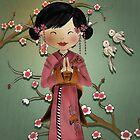 Cherry Blossom Geisha Girl by Kristy Spring-Brown