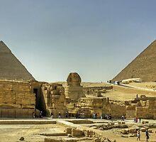 The Giza Plateau by Tom Gomez