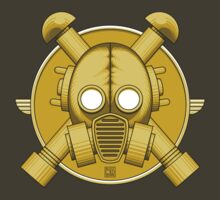 Art Deco Gold Gasmask by Rustyoldtown