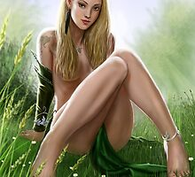 Elf Pinup by dashinvaine