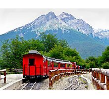 The End of the World Train Photographic Print