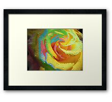 Rainbow Cocktail. Framed Print