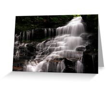Upper Part of the Ganoga Waterfalls-Rickets Glen State Park Greeting Card