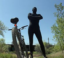 Black Zentai and Bike 4 by mdkgraphics