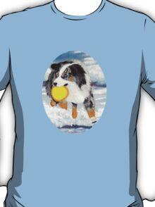 Frisbee Dog ~ Australian Shepherd ~ t-shirt & Sticker T-Shirt