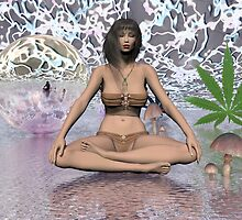Dona Juana in Lotus by Sazzart