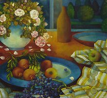 still-life with pomegranate by elisabetta trevisan