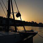 Sunset on Saint-Jean-de-Luz's harbour by MitchHippie