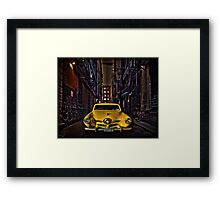 Back Alley Taxicab Framed Print