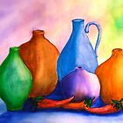 Pottery and Hot Peppers by Betty Burnitt