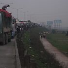 Traffic jam leaving Ha Noi by DrinkWater