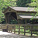 Lanterman Falls Covered Bridge by Monnie Ryan