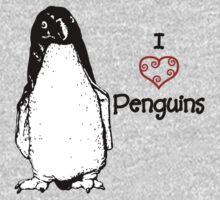I Heart Penguins  T-Shirt