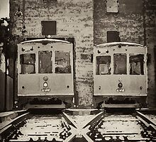 Trolleys at Ybor City,FL by Sherry  Williamson