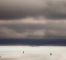 Ice Fishing by Bodil Kristine  Fagerthun