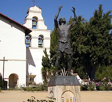 Mission San Juan Bautista - Patron Saint by Cupertino